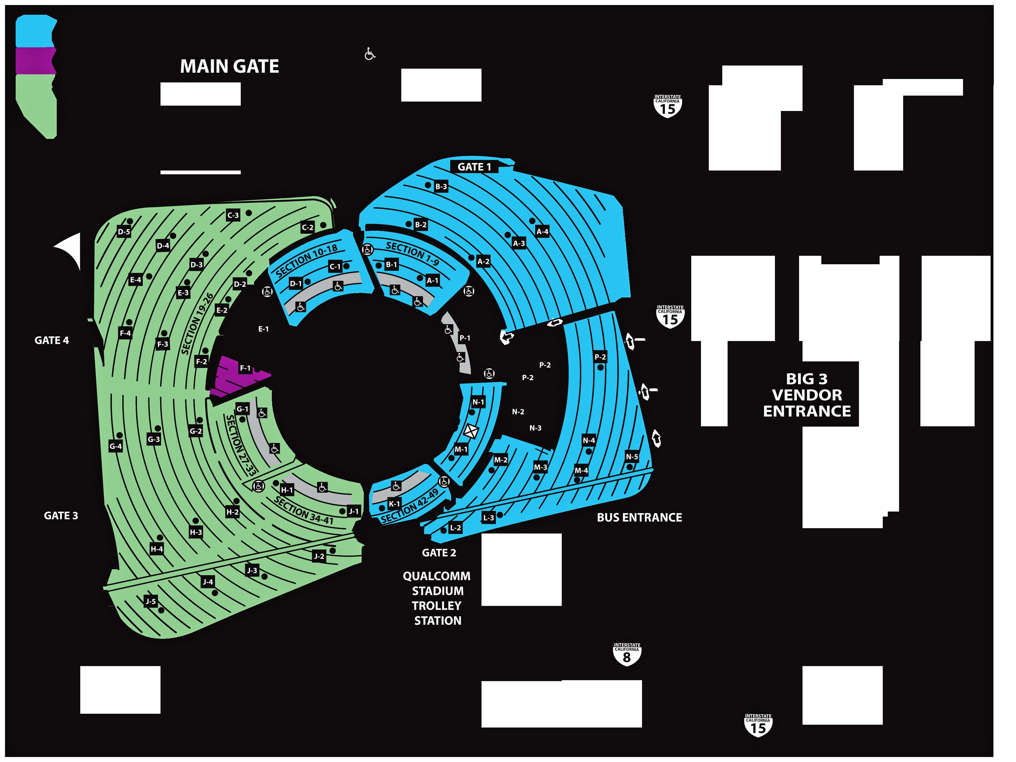BIG 3 SWAP MEET MAPS - Big 3 Parts Exchange Qualcomm Stadium Map on farmers field map, davis wade stadium map, high point solutions stadium map, the coliseum map, oracle stadium map, cowboys stadium map, o.co coliseum map, lockhart stadium map, charlotte knights stadium map, pbs stadium map, new britain stadium map, yager stadium map, avaya stadium map, orlando city stadium map, chargers stadium map, waldo stadium map, verizon stadium map, tdecu stadium map, houston rodeo stadium map,